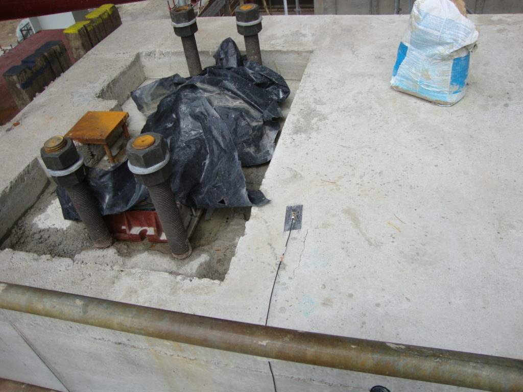 concrete foundation stiffness measurements